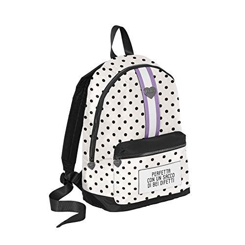 Seven SpA Backpack Minipà Pois Zainetto a Pois Donna (Bianco)
