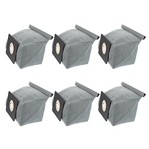 Angoily 6Pcs Vakuum Staub Taschen Ersatz Staubsauger Kanister Müll Tasche Reinigen Filter Beutel für Vakuum Teile Zubehör Grau