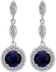 Swarovski Elements white gold plated crystal style Earring Glisten diamond drop Earrings Jin17