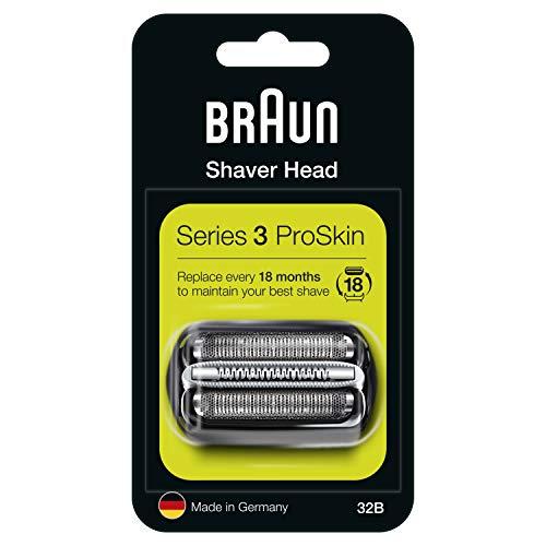 Braun Series 3 32B Cabezal de Recambio Negro para Afeitadora Eléctrica Hombre, Compatible con las Afeitadoras Series 3 ProSkin