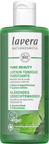 Lavera PURE BEAUTY Lotion Tonique Purifiante - menthe bio et d'acide salicylique naturel - Cosmétiques Naturels - vegan - certifié - climatiquement neutre - 200 ml