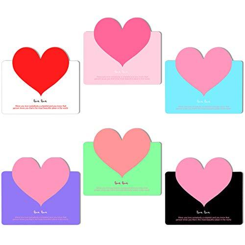 Ledeak Tarjetas Agradecimiento, 60 Pedazos Corazón le Agradecen las Tarjetas de Felicitación de Cumpleaños para los Amantes Día de San Valentín Regalo para Boda Fiesta Aniversario Anuncio Nacimiento