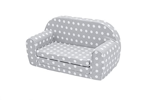 MuseHouse Kindersofa Kindercouch Kindersessel Sofa Bettfunktion Kindermöbel (S102)