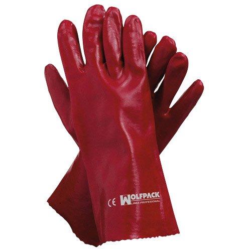 MAURER 15031095 Guante Wolfpack Pvc Rojo 35cm