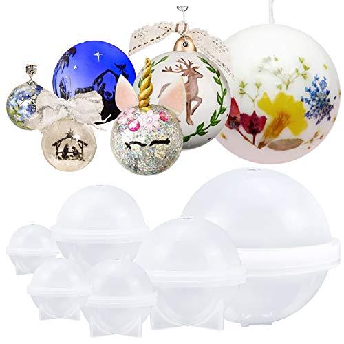 musykrafties Epoxid-Silikonformen für Schmuckgießen, Kerzenherstellung, Wachs, selbstgemachte Seife, Badekugeln, Bastelarbeiten, verschiedene Größen, 6 Stück