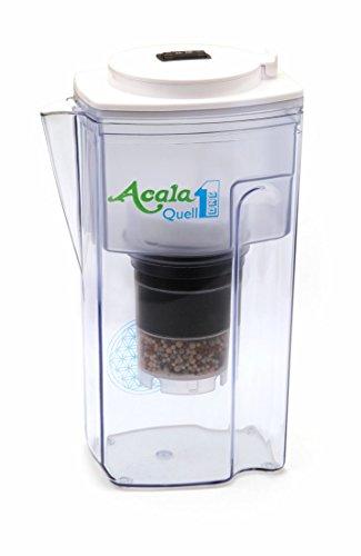 Wasserfilter AcalaQuell® One | Weiss | Aktivkohle Wasserfilter | Höchste Filterleistung - mehrschichtig | BPA-free | ReNaWa® - Technology | Kreiert köstlich schmeckendes, wohltuendes Wasser