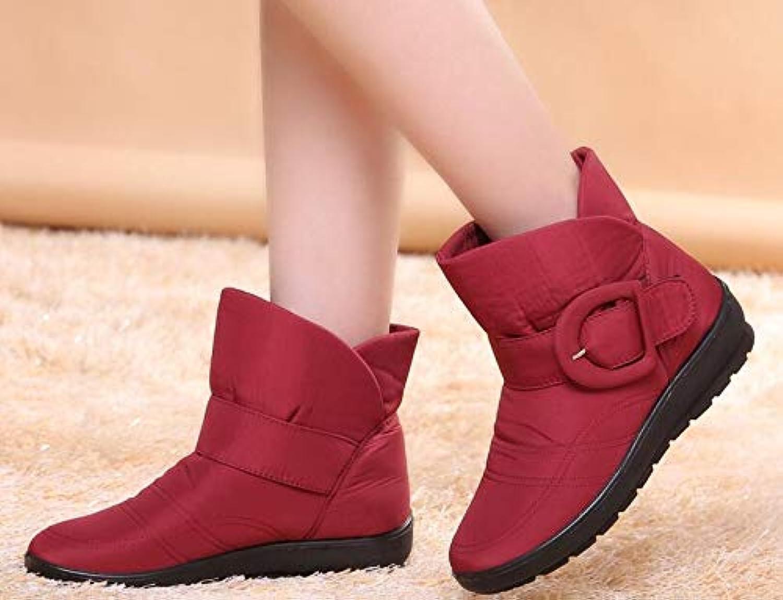 BBNL-Q DDL- Snow Boots The New Non-Slip Waterproof Winter Boots Plus Cotton Velvet Women shoes Warm Light Big Size 41 42 Snow Boots