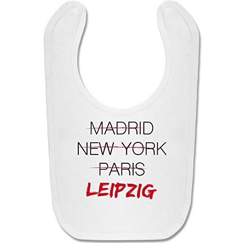 Städte & Länder Baby - Weltstadt Leipzig - Unisize - Weiß - leipzig baby - BZ12 - Baby Lätzchen Baumwolle