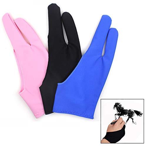 Xrten 3 stuks kunstenaarshandschoenen, tablettekenhandschoen, antifouling handschoen voor drawing