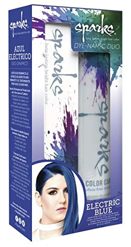 Sparks Dye-namic Duo Electric Blue + Shampoo (Pack of 1)