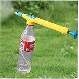 Ruluti Botellas De Presión 1pc Pulverizador De Pistola De Agua De Botellas De Riego De Riego Interfaz Carretilla Pulverizadores Cabeza De Flor Herramientas De Jardín
