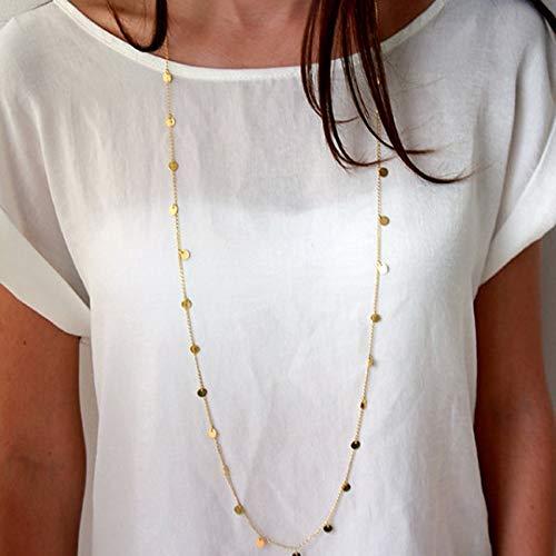 Collar Collar Largo De Bohemia De Moda Para Mujer, Collar Con Personalidad, Colgante Largo, Cadena De Cuello Maxi
