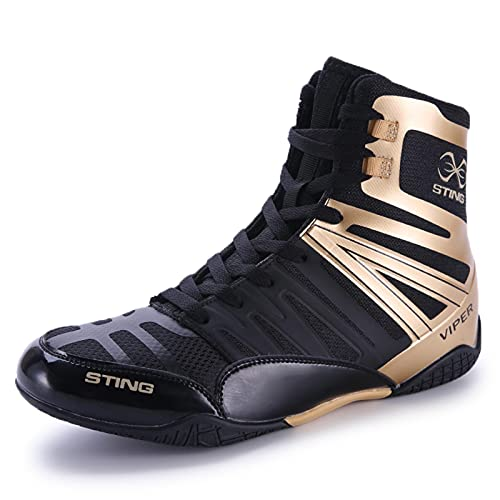 Boxing Shoes Men's Wrestling Shoes Youth Muay Thai Kickboxing Sparring...