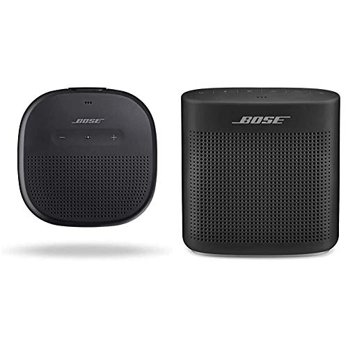 Bose SoundLink Micro, Portable Outdoor Speaker, (Wireless Bluetooth Connectivity), Black & SoundLink Color Bluetooth Speaker II - Soft Black