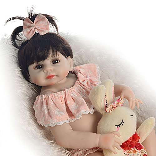ZTLY Reborn Baby Doll, Baby Doll Silicone Full ODY, Traje de cumpleaños Apto para 3 años de cumpleaños, Wwith Hermosa Lothes Sut