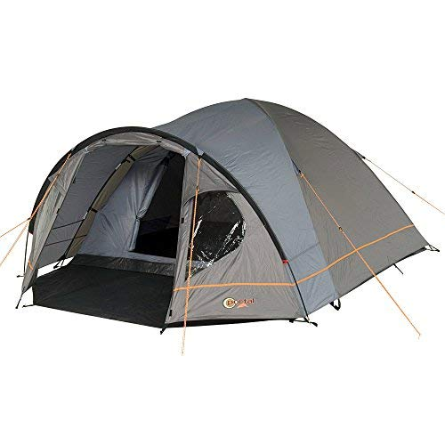 Portal Outdoor Zeta Spacious Dome Tent, with Fibreglass Poles, Sleeps up to 4 People, with Porch and Triple Ventilation PT-TN-ZETA3