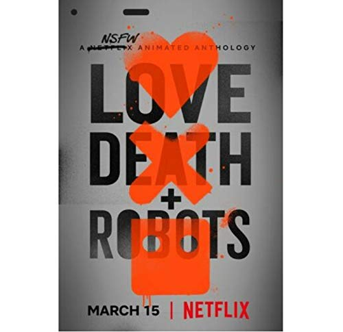 Zahuishile Love, Death & Robots Poster Animated TV Series Fabric...