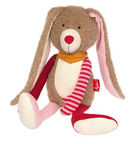Sigikid Niñas y niños, Conejo Patchwork, Peluche, Recomendado a Partir de 0 Meses, Color Rosa/marrón, 39214 (Juguete)