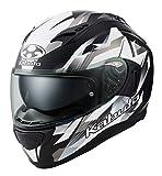 オージーケーカブト(OGK KABUTO)バイクヘルメット フルフェイス KAMUI3 STARS(スターズ) フラットブラックシルバー (サイズ:L) 587338