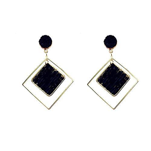 ZLININ Y-longhair Girls' Earrings Women's Drop Earrings 925 silver needle for round face geometric diamond earrings earrings, Gifts