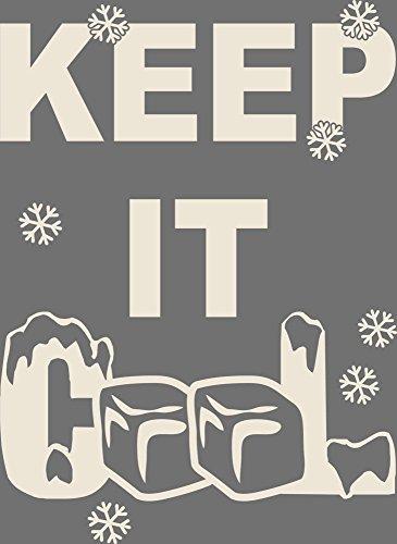 Keep It Cool Koelkast Decal Muursticker Muursticker voor Keuken IJsblokjes Lade 69x50cm 816 Antique White