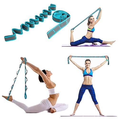 WowDude Latest elastic adjustable stretching straps hamstring stretcher device pilates equipment for home workouts elastic exercise band leg exercise equipment yoga equipment for home workouts-9 Loops