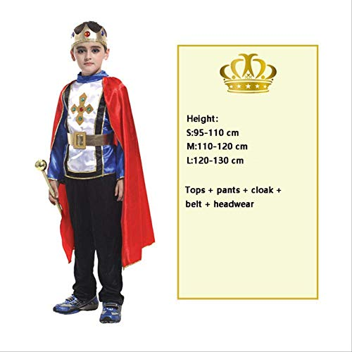 CHNWSJ Kostüm for Halloween Cosplay Kinder Prince Kostüm for Kinder Der König Kostüme Weihnachten Jungen Fantasia Europäische Lizenz Kleidung S Modell Zwei