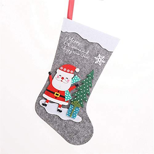 Hengsong Personnalisés Bas De Noël, Bonhomme De Neige, Wapiti, Arbre De Noël, pour Les Décorations De Noël, Vieil Homme