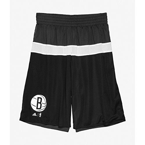 adidas NBA Brooklyn Nets - Pantalones cortos reversibles para hombre, todo el año, color Negro , tamaño xxx-large