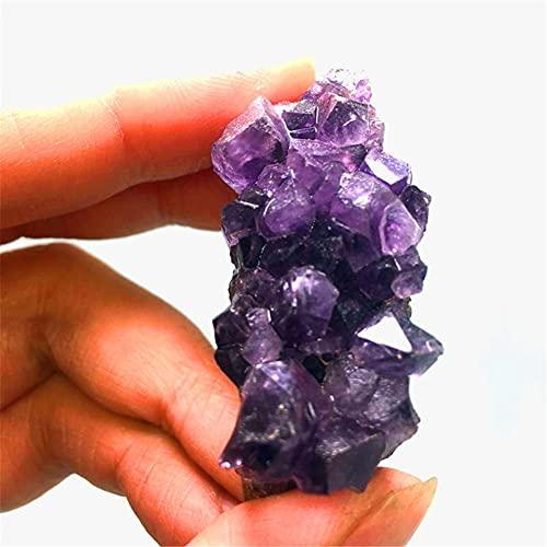 BEISHI Uruguay Natural Purple Vug Amatista áspero Cubierto de Piedra Cuelga Colgante Púrpura Agua Vug Decoración