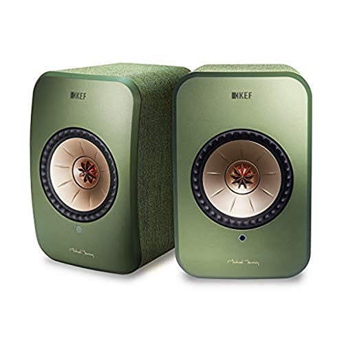 KEF LSX Haut-parleurs Actifs sans Fil Vert, Airplay 2 | Musique en Streaming | Multiroom | Bluetooth | Spotify | Tidal | Roon