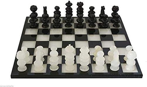 CBAM Schachbrett in Maya- und Weißem Marmor mit Schach 40x40