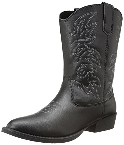 Daclay Kids Boots Children Boys and Girls Candy-Colored Waterproof and Velvet Martin Boots (3.5 Big Kid,Black)