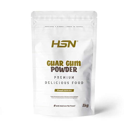Goma Guar en Polvo de HSN   Espesante Natural y Saludable para Recetas   Fuente de Fibra + Saciante   Vegano, Sin Gluten, Sin Lactosa   1 Kg