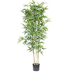 59inch/5ft Artificial Boxwood Topiary Tree Artificial Bamboo Tree Fake Silk Plant Greenery Plants Feaux Faux banboo Trees Outdoor Indoor Home Decor Proch Office