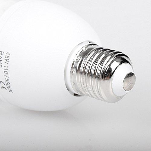 Emart Full Spectrum Light Bulb, 2 x 45W 5500K CFL Daylight for Photography Photo Video Studio Lighting