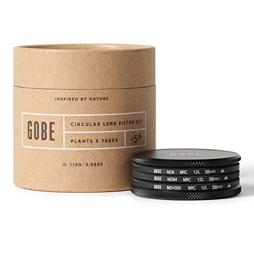 Gobe 58 mm Graufilter ND8, ND64, ND1000 - ND Filter Kit (1Peak)