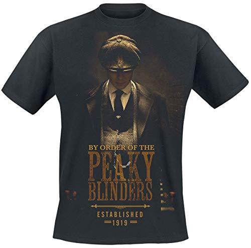 Peaky Blinders Camiseta para Hombre Establecida en 1919 Thomas Shelby Cotton Black - S