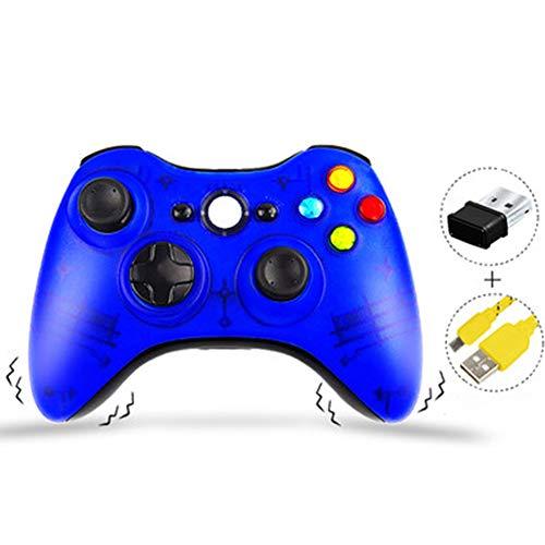 JIN Gamepad usb bekabelde/draadloze dubbele vibratie voor laptop/PC-kabel pc360 TV ps3, netwerkdoos, Large, Blauw