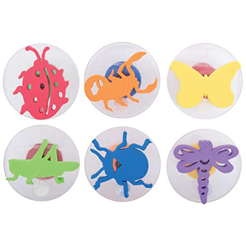 Ready 2 Learn Giant Stampers - Insects - Set 1 - Set of 6 - Easy to Hold Foam Stamps for Kids - Arts and Crafts Stamps for Displays, Posters, Signs and DIY Projects,