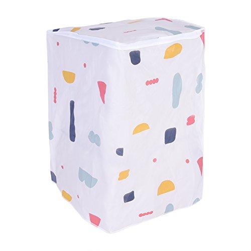 Qiraoxy Cubierta impermeable con cremallera para lavadora y secadora de carga frontal (carga frontal)
