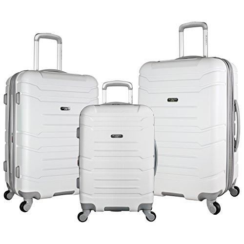 Olympia Denmark 3 Piece Luggage Set, White