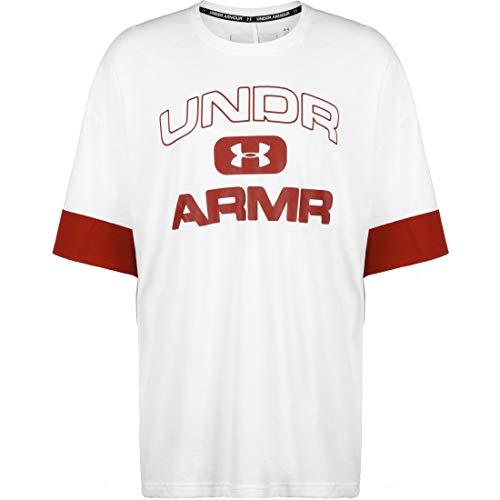 Under Armour Moments Basketballshirt Herren weiß/rot, XL