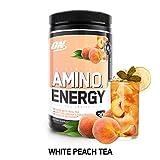 OPTIMUM NUTRITION ESSENTIAL AMINO ENERGY, White Peach Tea, Keto Friendly BCAAs, Preworkout and...