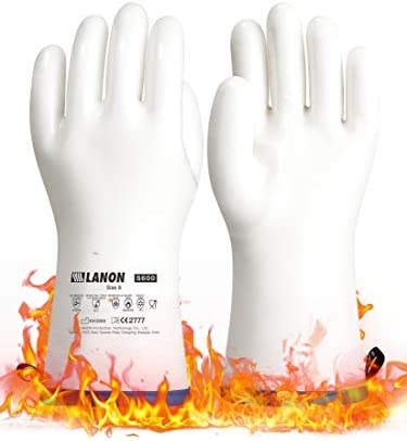 LANON Liquid Silicone Heat Resistant Gloves with CoralAir Liner for Oven Barbecue Grill Cooking product image