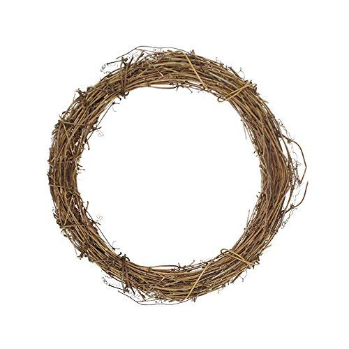 NBKing Shop DIY Crafts Grapevine Wreath Fall Wreath for Front Door Autumn Door Wreath Harvest Wreath Garland Christmas Party Wall Hanging Wreath Natural Vine Decor Party Ornament (12 Inch)