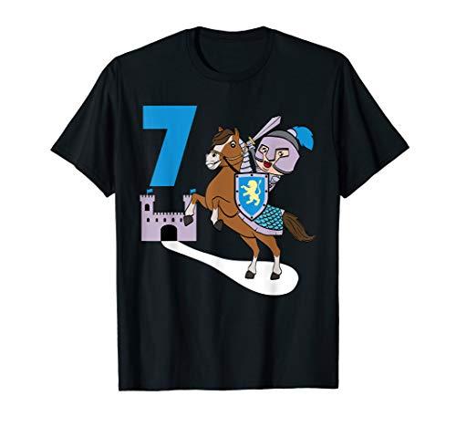 Kids knight 7th birthday castle lock armor medieval T-Shirt