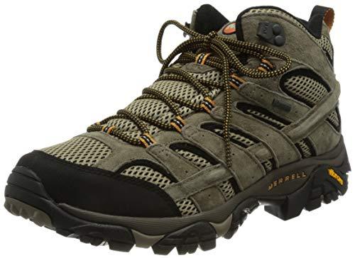 Merrell Herren Moab 2 Mid Leather Gore-tex Trekking und Wanderstiefel, Braun (Pecan), 42 EU