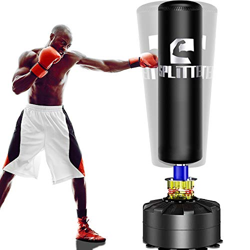 Xsport Pro Freestanding Punching Bag 69''-182lb Heavy Bag with Suction Base for Adult Youth,Men Free Stand Punch,Kickboxing Bags,Standing Heavy Punching Bag