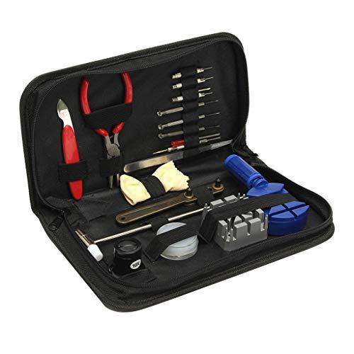 Flameer Relógio kit de reparo com 19 pçs ferramentas 19x kit de reparo relojoeiro relógio volta capa removedor chave de parafuso abridor titular